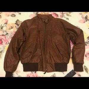 Brand New Leather Roundtree and Yorke Coat- Medium